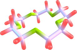 Supramolecule του αιθέρα κορωνών στο άσπρο υπόβαθρο Στοκ Φωτογραφίες