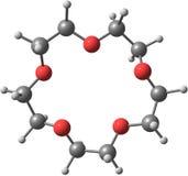 Supramolecule av kronaeter på vit bakgrund Fotografering för Bildbyråer
