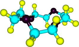 Supramolecule av kronaeter på vit bakgrund Royaltyfri Bild