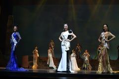 Supranational大阶段的a泰国小姐最后的回合2017年 库存图片