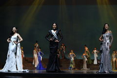 Supranational大阶段的a泰国小姐最后的回合2017年 库存照片
