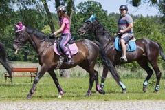 Suprasl , Poland - June 5, 2016 : recreation on horseback . Royalty Free Stock Photo