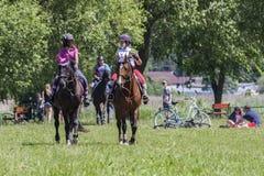 Suprasl , Poland - June 5, 2016 : recreation on horseback . Stock Photography