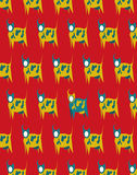 Suprematism cow pattern Stock Photo