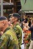 Supreme Commander Swedish Armed Forces General Micael Bydén marching Europride Stock Image