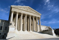 Supreme Court. The Supreme Court building in Washington DC in warm afternoon light Royalty Free Stock Photography