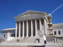 Supreme Court. The Supreme Court Building in the city of Washington, D.C Stock Images