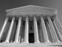 Supreme Court Black and White Royalty Free Stock Images