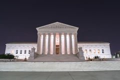 Supreme Court. Building at Night in Washington, D.C stock photography