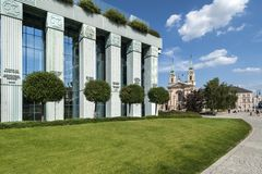 Supreme Court building in Warsaw Royalty Free Stock Photography