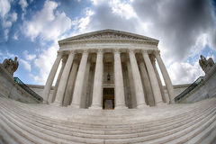 Supreme Court building in Washington dc detail Royalty Free Stock Photography