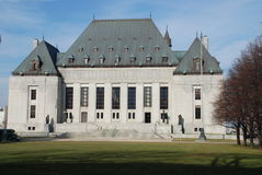 Supreme Court Of Canada. Building , downtown Ottawa, Ontario Royalty Free Stock Images