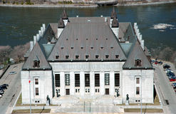 Supreme Court of Canada. Aerial view of the supreme court building in Ottawa Royalty Free Stock Images