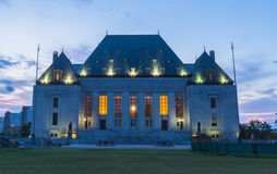 Supreme Court of Canada building at dusk Royalty Free Stock Photo