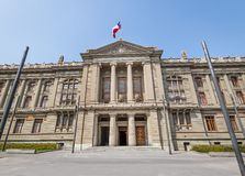 Supreme Court of Chile - Courts of Justice Palace at Plaza Montt-Varas Square - Santiago, Chile. Beautiful view of Santiago de Chile city stock images