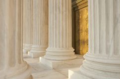 Supreme Court Column Details Royalty Free Stock Photos