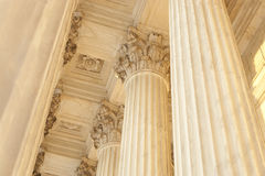 Supreme Court Column Details Royalty Free Stock Images