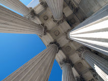 Supreme Court Columns Royalty Free Stock Image