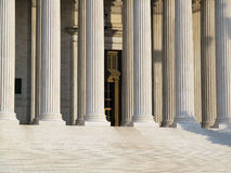 Supreme Court Columns. Stately columns at the historic Supreme Court building in Washington DC Stock Photography