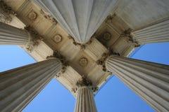 Supreme court columns Royalty Free Stock Image