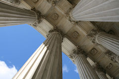 Supreme court columns Royalty Free Stock Photo
