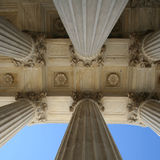 Supreme court columns Royalty Free Stock Photos