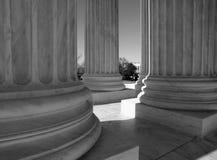 Supreme Court Columns Black and White Stock Photo