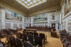 Wisconsin Supreme Court. Supreme Court courtroom in the Wisconsin State Capitol in Madison, Wisconsin Royalty Free Stock Images