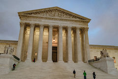 Supreme Court at Dusk Royalty Free Stock Photos
