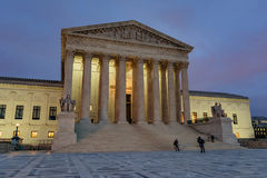 Supreme Court at Dusk Royalty Free Stock Photo