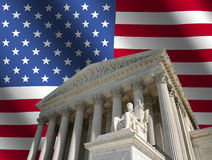 Supreme Court with flag Stock Photography