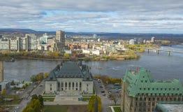 Supreme Court and Gatineau, Ottawa, Canada Royalty Free Stock Photo