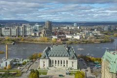 Supreme Court and Gatineau, Ottawa, Canada Stock Image