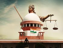 The Supreme Court of India. Is the highest judicial forum and final court of appeal under the Constitution of India, the highest constitutional court, with the stock images