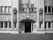Supreme Court in London black and white Stock Image