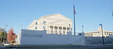 The Supreme Court of Mississippi building, Jackson, Tennessee. Royalty Free Stock Image