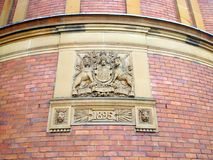 Supreme Court of New South Wales, Original Court Building, Sydney, Australia. Detail of an historic 1895 red brick building in Sydney City; an original Supreme royalty free stock photos