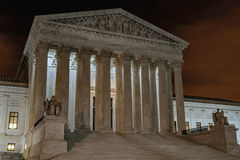 Supreme Court at Night Royalty Free Stock Photos
