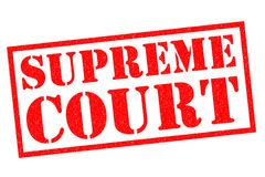 SUPREME COURT. Red Rubber Stamp over a white background royalty free illustration