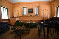 Supreme Court Room in Independence Hall, Philadelphia. Supreme Court Room in Independence Hall in old town Philadelphia, Pennsylvania, USA. Now Independence Hall stock image