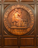 Supreme Court seal of South Carolina Royalty Free Stock Photos