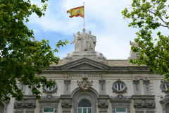 Supreme Court of Spain, Madrid, Spain. Supreme Court of Spain (Spanish: Tribunal Supremo) is the highest court in Spain, Madrid, Spain royalty free stock image
