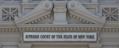 Supreme Court of the State of New York Stock Image