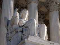 Supreme Court Statue. Historic United States Supreme Court Building Statue, entitled Contemplation of Justice Royalty Free Stock Image
