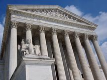 Supreme Court of the United States. Supreme Court of United States with as statue of Justice Royalty Free Stock Photos