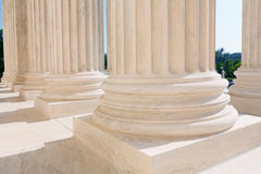 Supreme Court of United states columns row Stock Photos