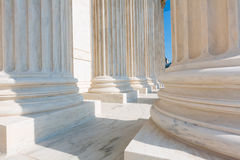 Supreme Court of United states columns row Stock Image