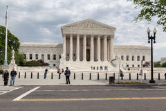 Supreme Court of the United States. The facade of the Supreme court of the United states in the format of a greek temple with corinthian columns. Washington royalty free stock photos