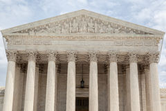 Supreme Court of the United States. The facade of the Supreme court of the United states in the format of a greek temple with corinthian columns Stock Images