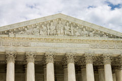 Supreme Court of United States. A part of the facade of the supreme court of the United States in the form of a corinthian greek temple, Washington DC Stock Photography
